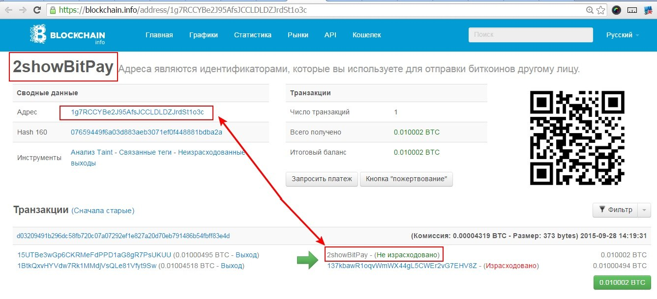Bitcoin address что это